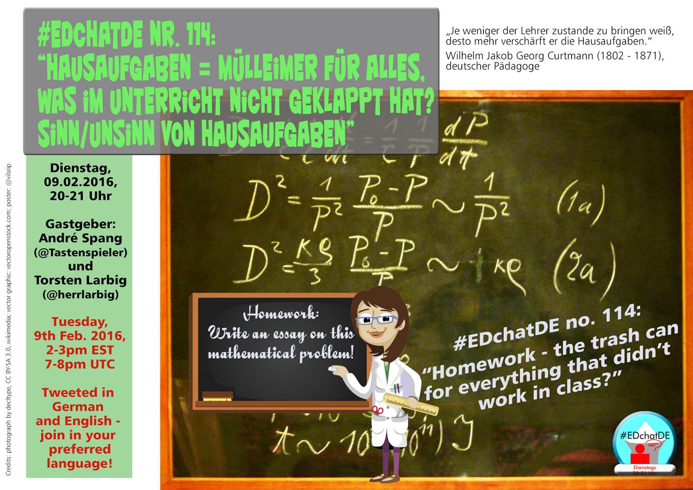 EDchatDE – Hausaufgaben: Sinn oder Unsinn? | André Spang